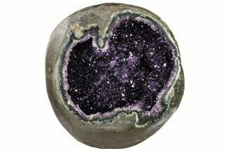 "8.8"" Deep Purple Amethyst Geode with Polished Face - Uruguay For Sale, #113867"