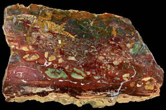 "17.6"" Stunning, Polished Jasper Slab - Marston Ranch, Oregon For Sale, #114476"