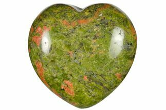 "1.6"" Polished Unakite Heart For Sale, #115478"