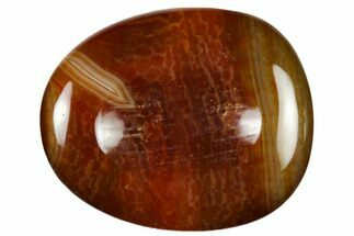 "Buy 2"" Polished Red Snakeskin Agate Worry Stone  - #116269"