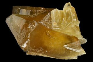 "Buy 3.7"" Lustrous, Golden Calcite Crystals - Morocco - #115189"