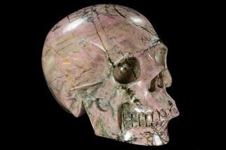 "Buy 6.1"" Realistic, Carved Rhodonite Skull - #116332"