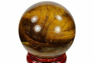"Buy 1.6"" Polished Tiger's Eye Sphere - South Africa - #116068"