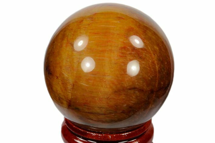"1.6"" Polished Tiger's Eye Sphere - South Africa"