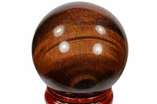 "Buy 1.6"" Polished Red Tiger's Eye Sphere - South Africa - #116083"
