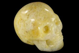 "Buy 1.9"" Realistic, Polished Yellow Aventurine Skull  - #116812"
