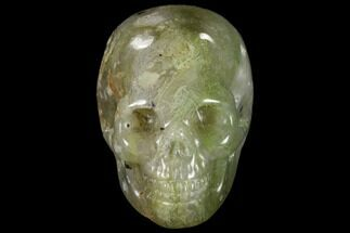 "2"" Realistic, Polished Moss Agate Skull  For Sale, #116825"