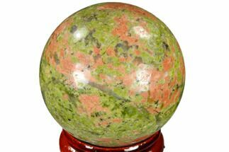 "1.55"" Polished Unakite Sphere - Canada For Sale, #116135"