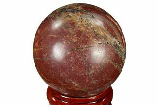 "1.55"" Polished Cherry Creek Jasper Sphere - China For Sale, #116207"