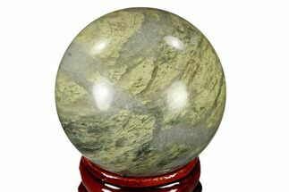 "Buy 1.6"" Polished Green Hair Jasper Sphere - China - #116230"