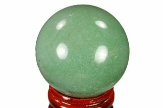"1.6"" Polished Green Aventurine Sphere - China For Sale, #116006"