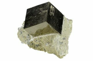 "1.21"" Pyrite Cube In Rock - Navajun, Spain For Sale, #118244"