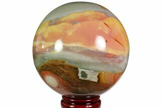 "Buy 4.8"" Polished Polychrome Jasper Sphere - Madagascar - #118591"