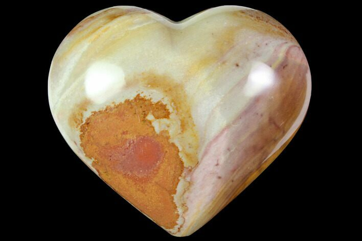 "3.1"" Wide, Polychrome Jasper Heart - Madagascar"