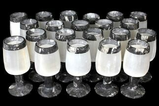 Wholesale Lot: 21 Decorative Selenite Candle Holders - Morocco For Sale, #119339