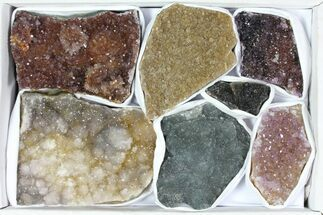 Wholesale Lot: Druzy Amethyst/Quartz Clusters (7 Pieces) For Sale, #119321