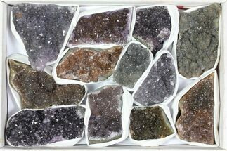Wholesale Lot: Druzy Amethyst/Quartz Clusters (12 Pieces) For Sale, #119324