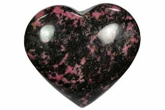 "3.4"" Polished Rhodonite Heart - Madagascar For Sale, #117356"