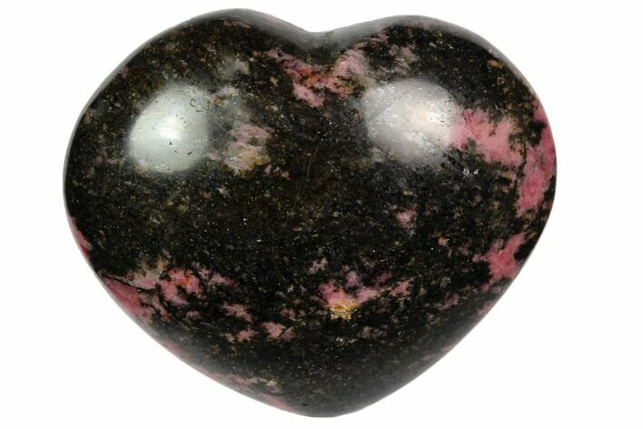 "2.8"" Polished Rhodonite Heart - Madagascar"