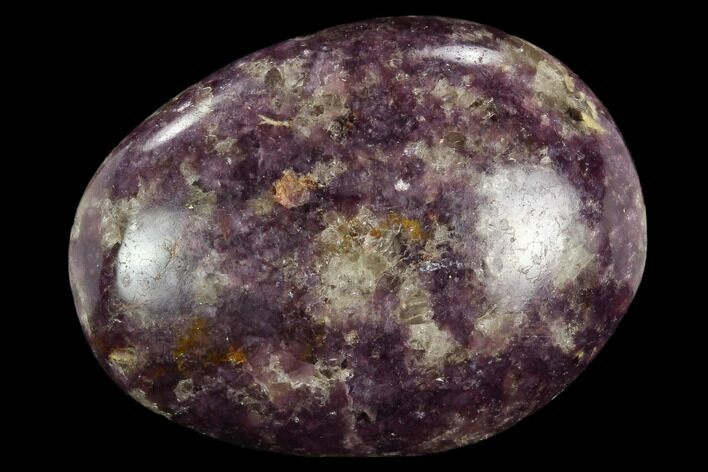 "2.8"" Sparkly, Purple Lepidolite Palm Stone - Madagascar"