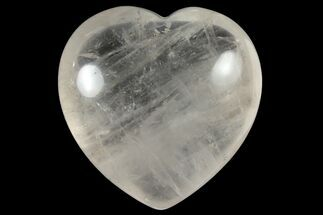 "1.4"" Polished Clear Quartz Heart For Sale, #121106"