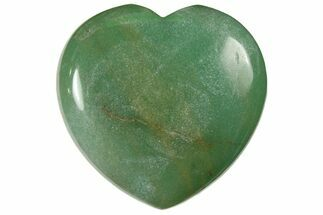 "1.6"" Polished Green Aventurine Heart For Sale, #121115"