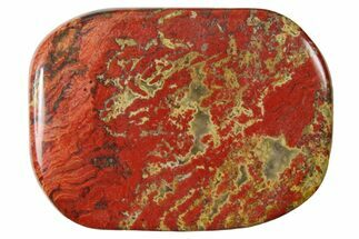 "1.8"" Polished Brecciated Red Jasper Flat Pocket Stone  For Sale, #121130"