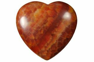 "1.6"" Polished Snakeskin Agate Heart For Sale, #121142"