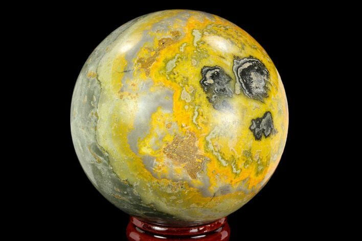 "2.4"" Polished Bumblebee Jasper Sphere - Indonesia"