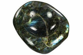 "5.4"" Polished, Flashy Labradorite Bowl - Madagascar For Sale, #120146"