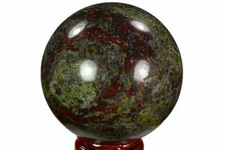 "2.3"" Polished Dragon's Blood Jasper Sphere - South Africa For Sale, #121586"