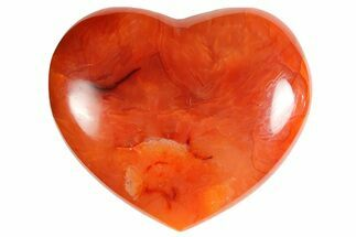 "2.9"" Colorful Carnelian Agate Heart For Sale, #121550"