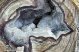 "3.04"" Crystal Filled Dugway Geode (Polished Half) - #121687-1"
