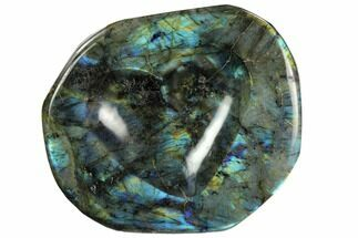 "Buy 6.7"" Flashy Labradorite Heart-Shaped Dish - Madagascar - #120169"