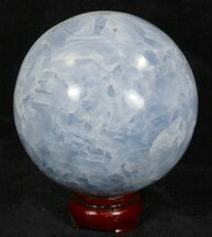 "Buy 3.85"" Polished Blue Calcite Sphere - #32125"