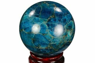 "Buy 2.45"" Bright Blue Apatite Sphere - Madagascar - #121795"