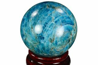 "2.11"" Bright Blue Apatite Sphere - Madagascar For Sale, #121808"