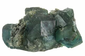 "3.1"" Green Fluorite on Sparkling Quartz - China For Sale, #122018"