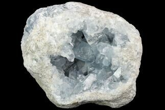 "6.4"" Sky Blue Celestine (Celestite) Geode - Madagascar For Sale, #123077"