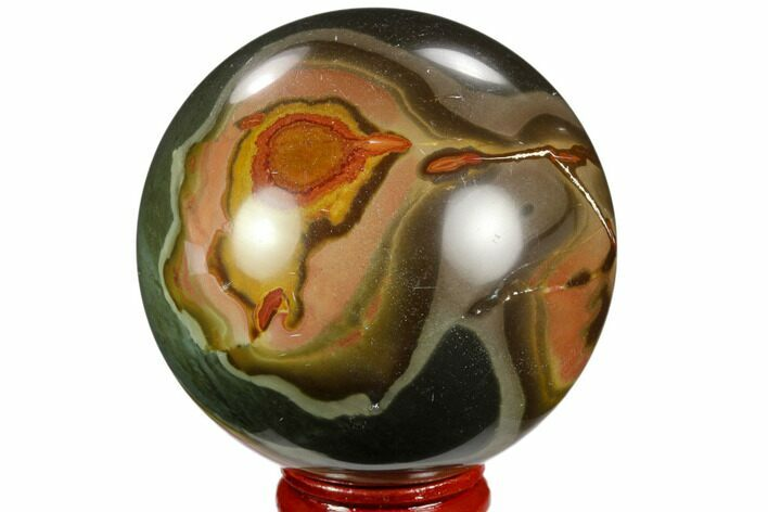 "2.5"" Polished Polychrome Jasper Sphere - Madagascar"