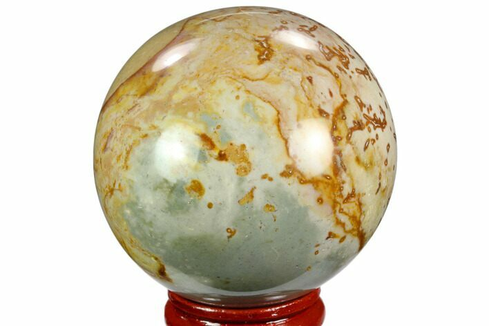 "2.1"" Polished Polychrome Jasper Sphere - Madagascar"