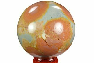 "2.5"" Polished Polychrome Jasper Sphere - Madagascar For Sale, #124148"