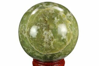 "2.15"" Polished Serpentine Sphere - Pakistan For Sale, #124301"