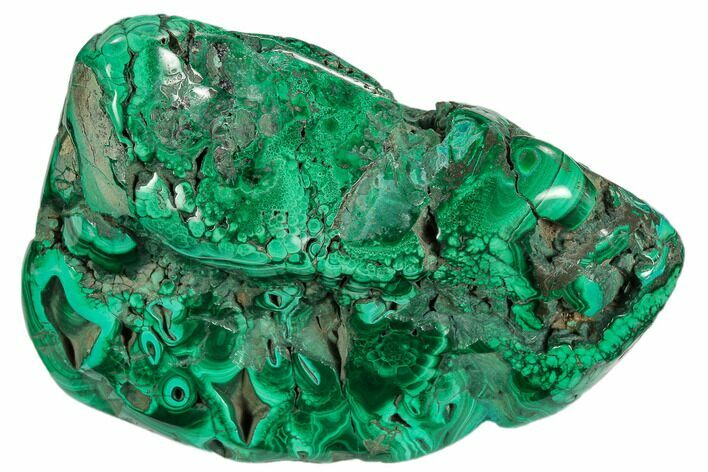 "3.2"" Polished Malachite Specimen - Congo"