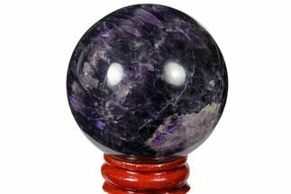 "Buy 2.05"" Polished Chevron Amethyst Sphere - #124528"