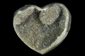 "2.9"" Green Quartz (Prasiolite) Heart - Uruguay For Sale, #123698"