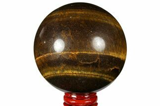 "Buy 3"" Polished Tiger's Eye Sphere - Africa - #124624"