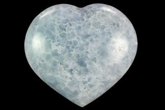 "4.55"" Polished, Blue Calcite Heart - Madagascar For Sale, #126644"