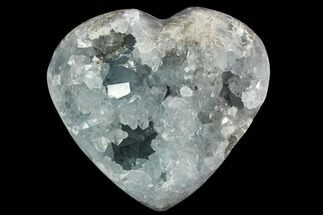 "3.6"" Crystal Filled Celestine (Celestite) ""Heart"" Geode - Madagascar For Sale, #126653"