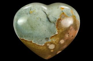 "2.15"" Wide, Polychrome Jasper Heart - Madagascar For Sale, #126713"